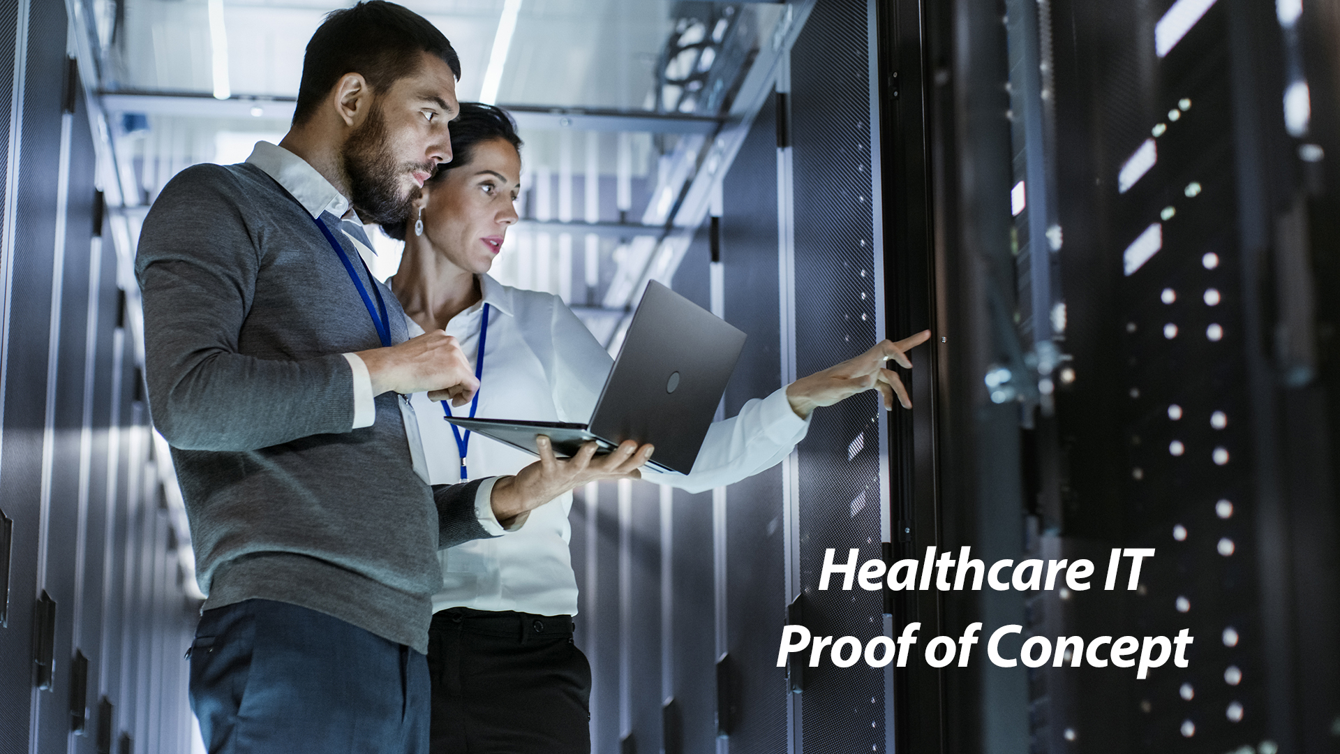 Healthcare IT professional in Proof of Concept photograph